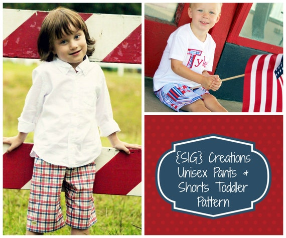 INSTANT Download Boy or Girl Pants and Shorts with Pocket Sewing Pattern in PDF File - Size 6 month to 5T