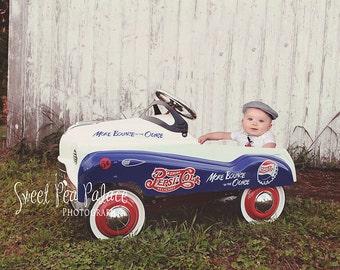 Instant Download DIGITAL BACKDROP for Photographers- Pepsi Pedal Car