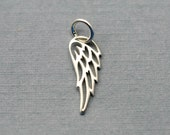 Add On Charm - Sterling Silver Angels Wing Charm
