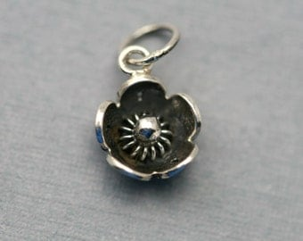 Add On - Sterling Silver Forget Me Not Flower Blossom Charm