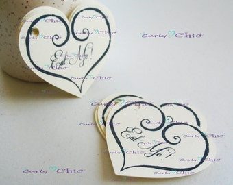 """30 Personalized Heart Size 3"""" -Printed Heart Labels -Cardstock Paper Heart -Heart Die cuts -Paper tags -Custom Heart Labels"""