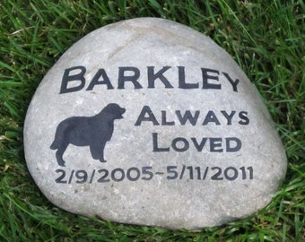 Personalized Pet Memorial Stone Golden Retriever Garden Memorial Stone Burial Cemetery Stone Marker 10-11 Inch