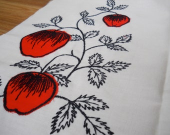 1950s-60s Embroidered Fabric 3.5 yards