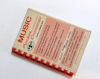 Vintage 1964 Music Pocket Crammer Book