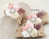 Wrist Corsages, Tan, Beige, Champagne, Pink, Ivory, Bridesmaids, Mother of the Bride, Crystals, Pearls, Feathers, Brooch, Vintage Style