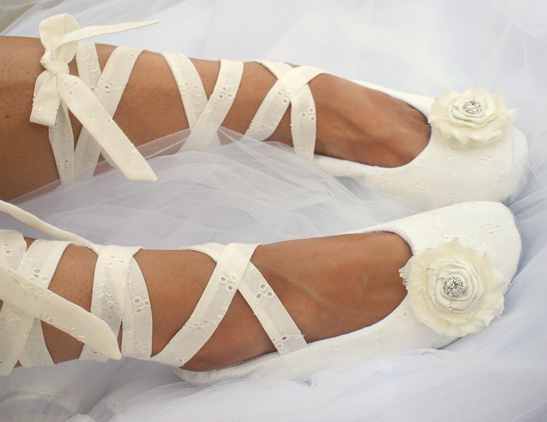 Ivory Flats Wedding Flats Ballet Flats Ballerina Slippers