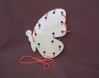 Lacing/Sewing Card-Butterfly