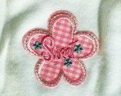 "Baby Girls Clothing // Girls Pink ""Sweet"" Flower Onesie // Size 6-9 months"