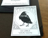 Bookplates Raven White 15 Personalized Ex Libris  Booklabels