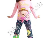 Boutique custom story pink cupcake set 12 18 24 2 3 4 5 6 7 8 9 10 jean short or skirt set DQ ETSYKIDS