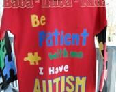 Autism awareness shirt Disney boys Boutique custom painted 12 18 24 2 3 4 5 6 8 10