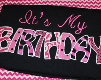 It's My Birthday Today- adult shirt- any colors you choose