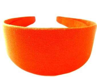 Orange Headband 2 Inch Headband