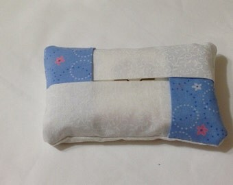 Blue and White Pocket Tissue Cover