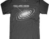 You are Here tshirt - tshirt mens unisex - sizes sm med lg xl xxl skip n whistle