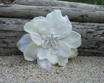 Starfish Beach Wedding Hair Clip, Comb, Barrette, Starfish Wedding, Bridal Hair Clip, Starfish, Mermaid Hair, Vegan Friendly Starfish, Ocean