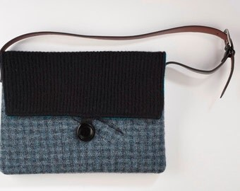 Spectacular One of a Kind Should Bag Laptop Case Upcycled Wool Coat On Sale 60% Off