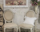 Painted Cottage Chic Shabby Farmhouse Chair CHR48