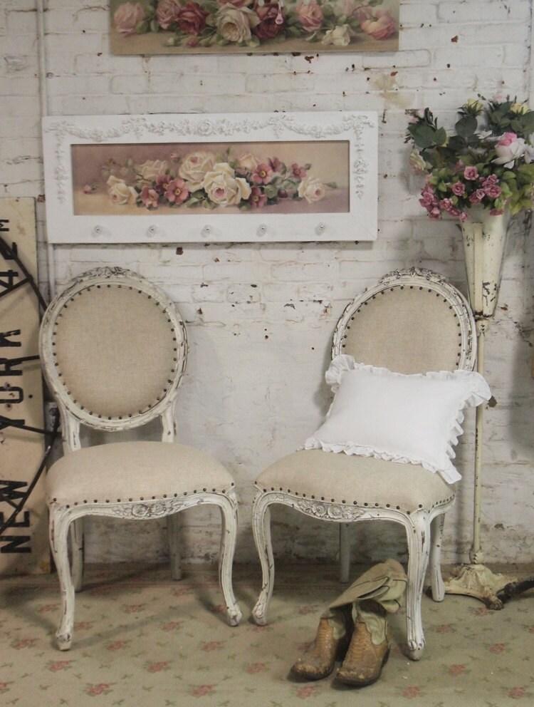 Painted cottage chic shabby farmhouse chair chr48 for Shabby chic farmhouse
