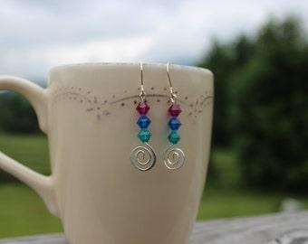 Dangle Swarovski Crystal Earrings
