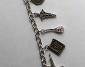 Firefly Serenity inspired charm bracelet Mal Inara Wash Zoe River Simon Kaylee Shepherd Book Jayne