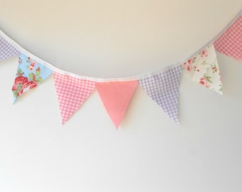 Gorgeous floral Cath Kidston bunting in soft pastels