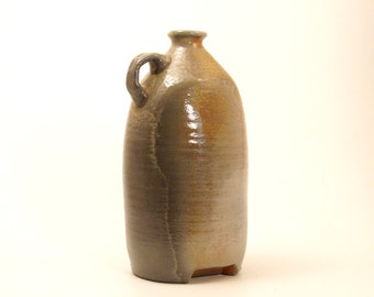 woodfired oval vase N34