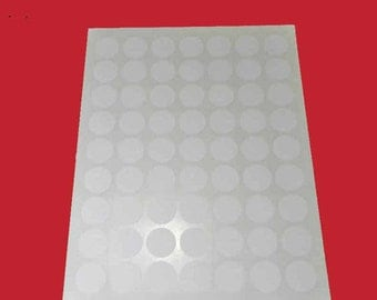 "5 Sheets 1"" Round White Labels. 5 Sheets 1"" Round Stickers Blank. 5192"
