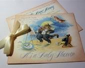 Baby Shower Invitation, Vintage StoryBook Themed - Set of 10