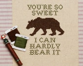 hardly bear cross stitch pattern