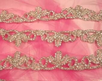 Rhinestone Crystal Trim Elegant Tiara Silver Crystal   (0427-slcr)