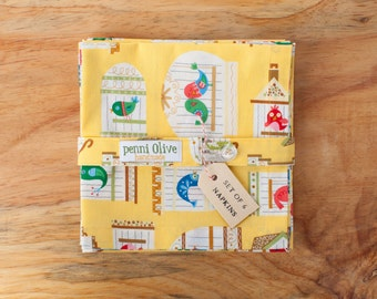 Set of 6 Bird Cloth Napkins