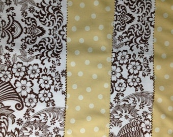 Reversible provincial brown and white  oilcloth placemats