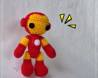 Iron Man 6 inches - PDF amigurumi crochet pattern