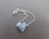 Flower Petal Heart Bracelet/ Wedding and Memorial Keepsake