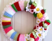 Custom Crocheted Wreath for Stacey