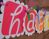 RAINBOW - Happy Birthday Banner