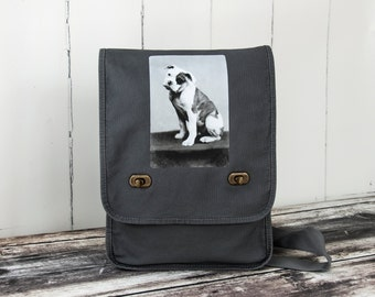 American Bulldog - Messenger Bag - Field Bag - School Bag - Smoke Gray - Canvas Bag