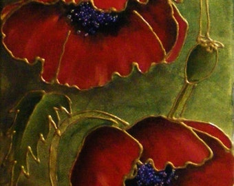 Cloisonne Poppies