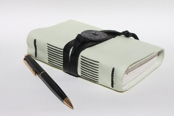 Mint Green Leather Journal or Sketchbook for the Writer or Artist