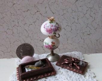 OOaK Dollhouse Writing Box w/ Mice    Miranda's Miniatures