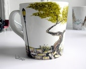 Hand Panted Mug - A Day At the Park - One-of-a-kind, Original Artwork