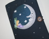 Fairy on the Moon Embroidered Book Cover
