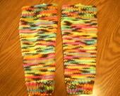 Childrens' knit legwarmers/adult  small boot cuffs/boot socks