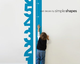 Growth Chart Numbers - Children's Vinyl Wall Decal