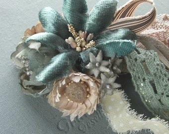 handdyed corsage brooch - candy box