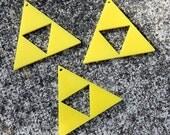 3 x Laser cut acrylic Delta Triforce charms