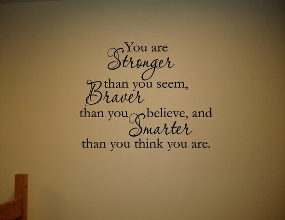 Smarter Than You Think Quote: Vinyl Wall Words Quotes And Sayings 0988 You Are By Vinylsay