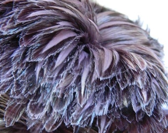 Loose Lavender Purple Rooster hackle Feathers (3-5 inches)(2 package size) Craft material for millinery, trim, masks and hair fascinators