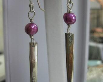 Sterling Silver Spike Earrings